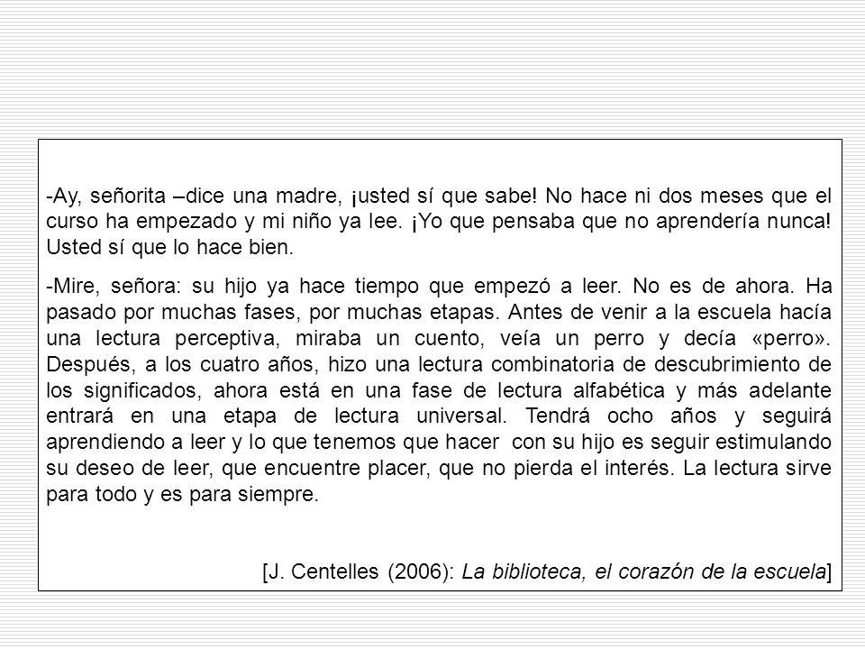 [J. Centelles (2006): La biblioteca, el corazón de la escuela]
